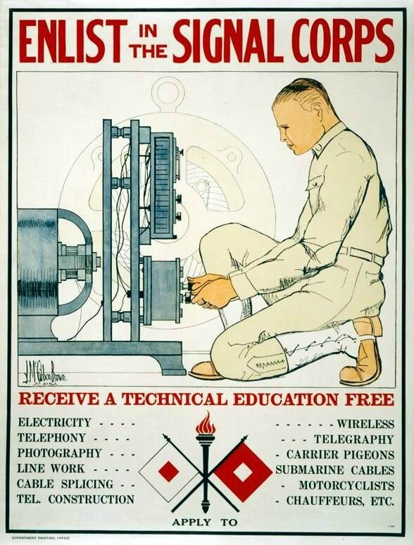 Enlist in signal corps