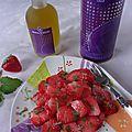 Fraises en salade à la fleur d'huile d'olive