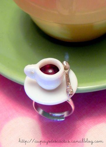 Bague café détail