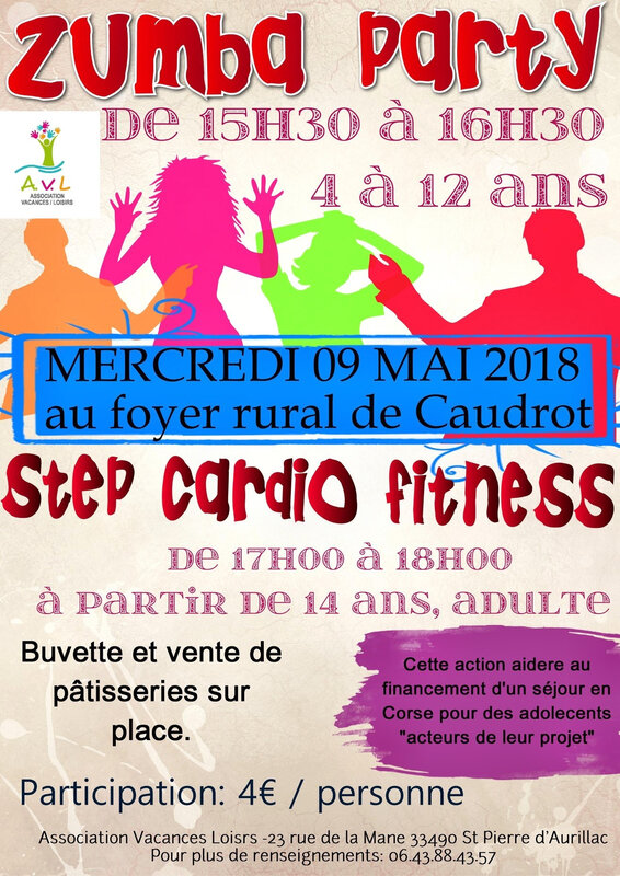 ZUMBA PARTY mercredi 9 mai CAUDROT