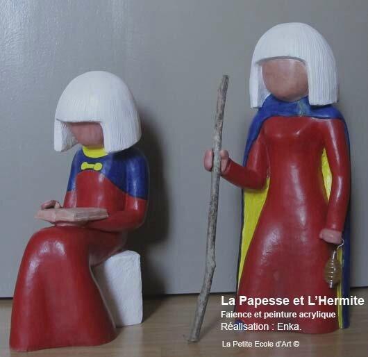 Sculpture Papesse Hermite 2