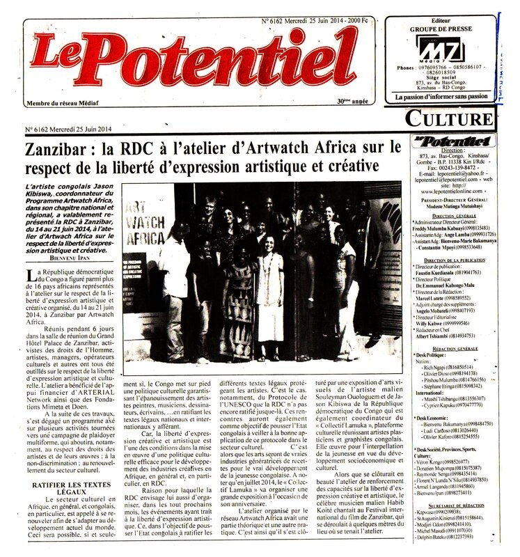 La_RDC___Zanzibar___Atelier_coupure_journal_LePotentiel_du_25_Juin_2014