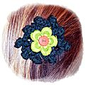 Sérial crocheteuses n°231 : barrette au crochet