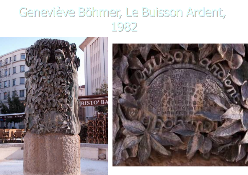 Sculpture, Buisson Ardent = Rue Moncey