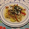 Salade de sardines à l'huile aux pousses de haricots mungo