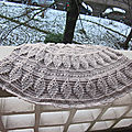 Test crochet - embossed leaves poncho...