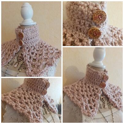Snood & col crochet (10)