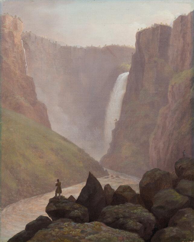 Wilhelm Maximilian Carpelan, The Vøringsfossen Waterfall, Norway