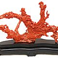 Chinese carved coral guan yin sculpture sells for $66,550 at elite decorative arts