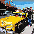 Yellow cab nyc (huile sur toile) 81 x 54 cm