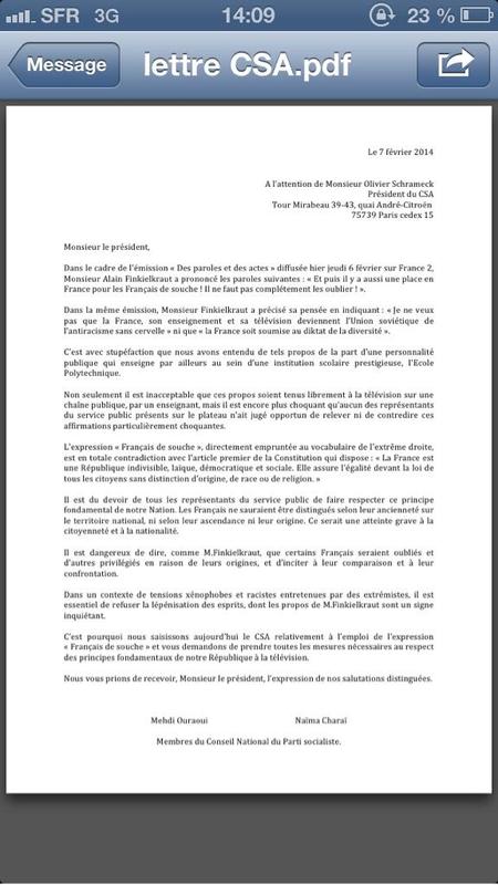 lettre CSA
