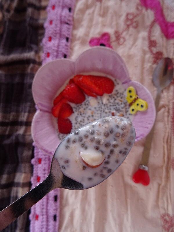 Porridge Cru aux graines de chia et avoine