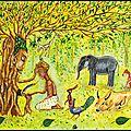Arbres et seigneurs de la forêt (le pipal et maharaja)