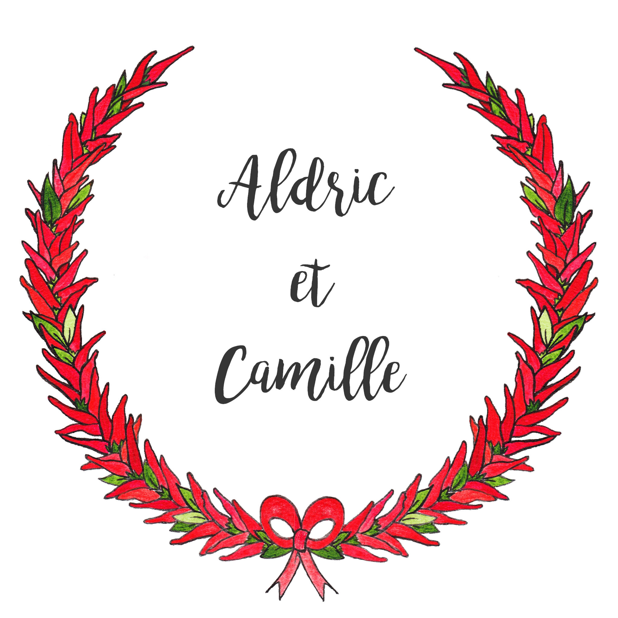 Couronne de Piments MARIAGE Camille & Aldric - 11 juillet 2020