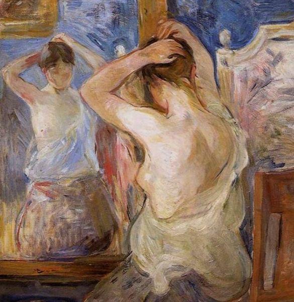 Morisot Berthe Devant le miroir 1875