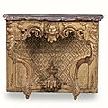 Console en bois sculpté et doré. xviii° siècle