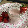 Yaourt à boire fraise menthe