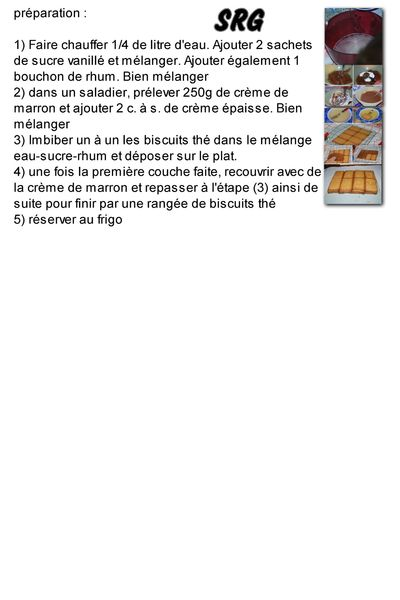 gateau au biscuit the et marron (page 2)