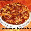 Tarte rustique au gorgonzola et au jambon de savoie