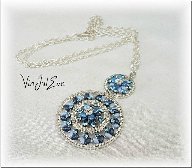 collier Venise bleu argent