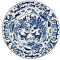 A blue and white dish for the Portuguese Market, Ming Dynasty, Wanli Period (1573-1620)