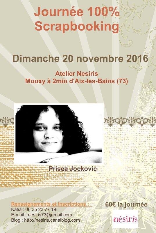 Journée 100% Scrap avec Prisca - Katia Nésiris