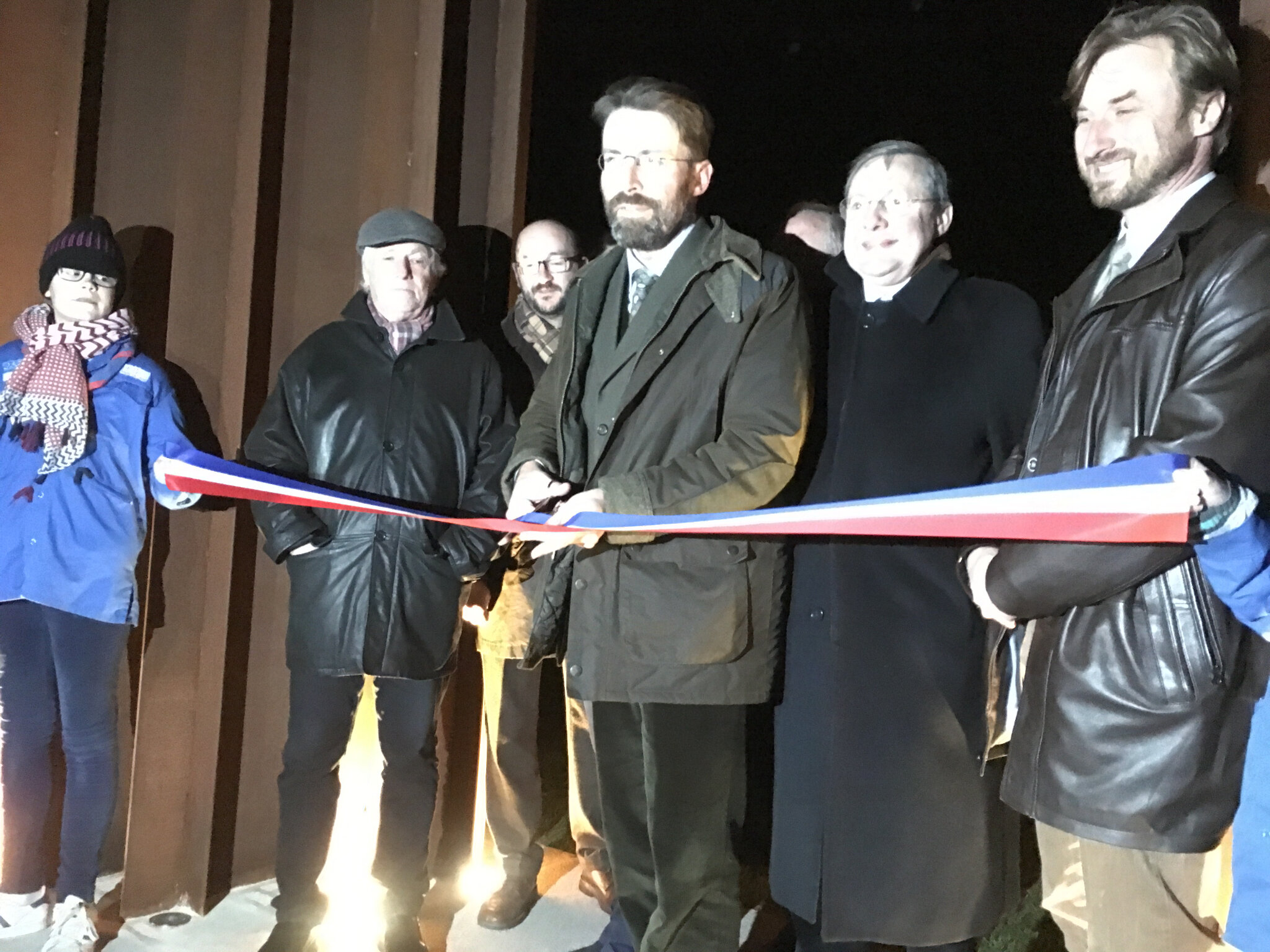 inauguration du square Thomas Becket à Avranches • vendredi 30 novembre 2018