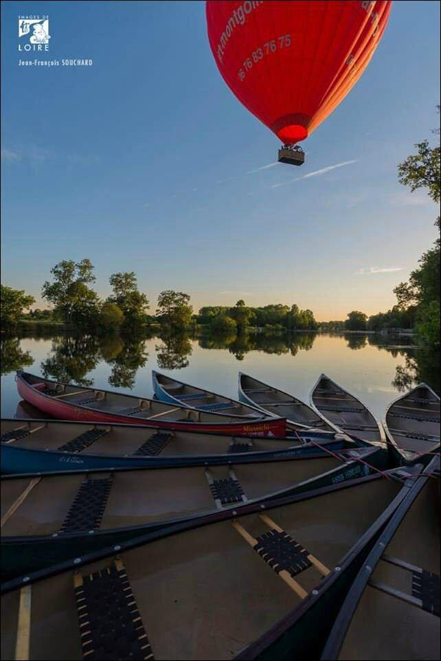canoe-mongolfière