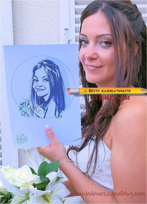 mariage mariee caricature vin honneur france caricaturiste marne champagne ardenne