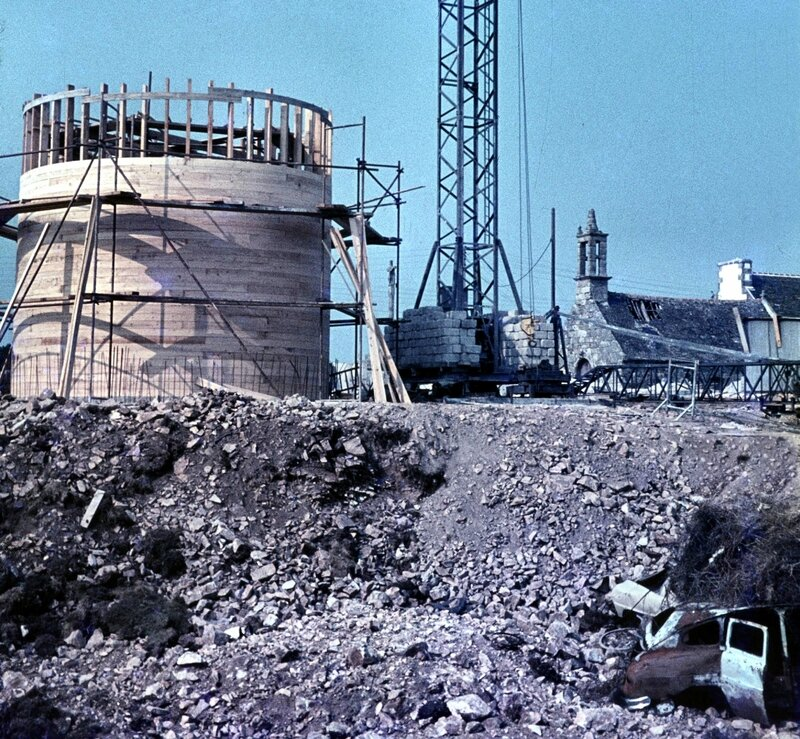 Ch30 - Construction du chateau d'eau en 1966