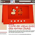 Carte de voeux petits rennes {tuto}