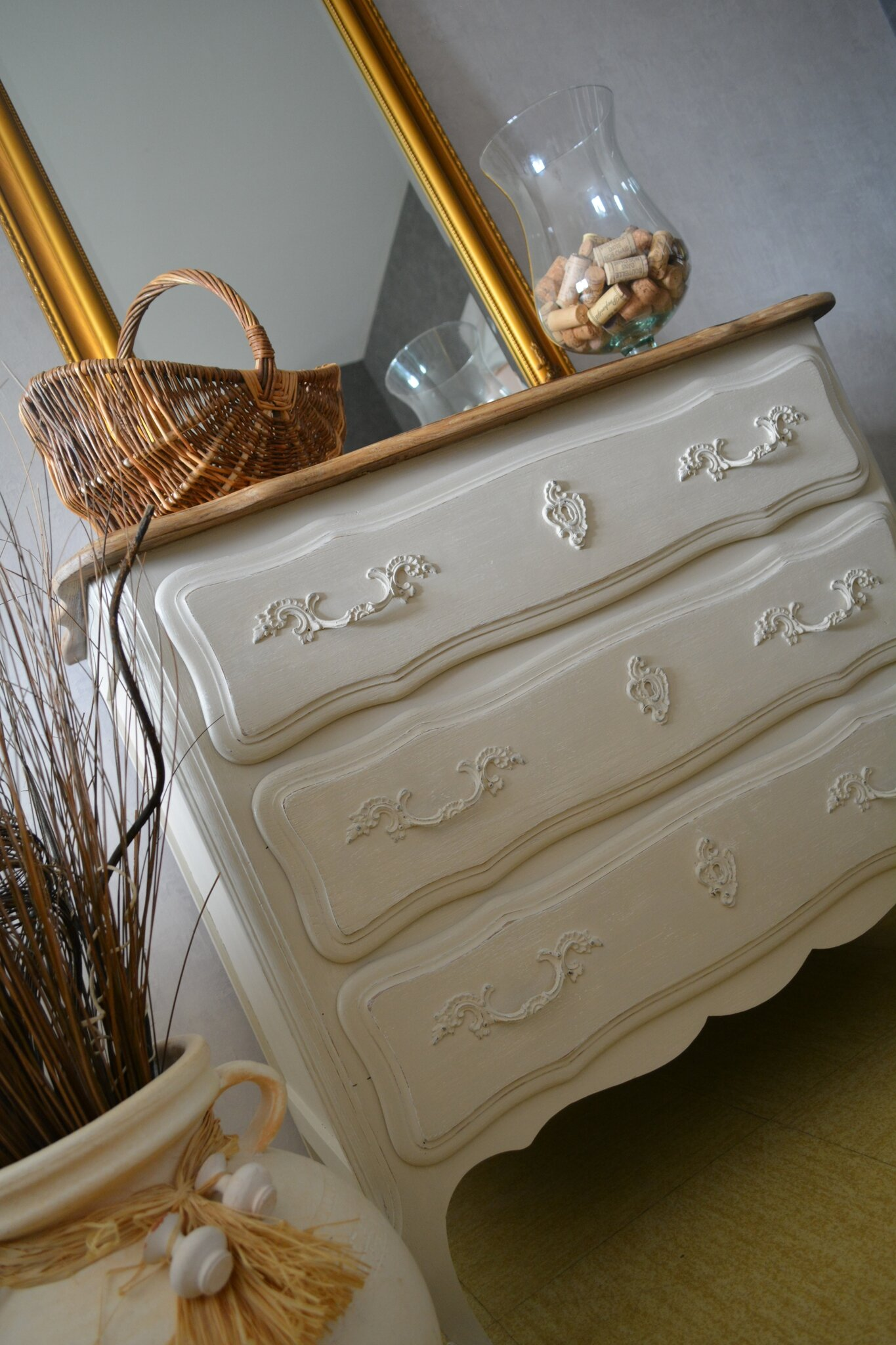 Commode en chêne - campagne shabby chic