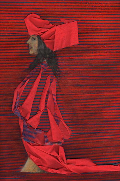 Turban rouge, 34/45 cm, 500 €