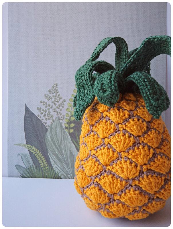 Ananas au crochet Cam&Drey bricolent