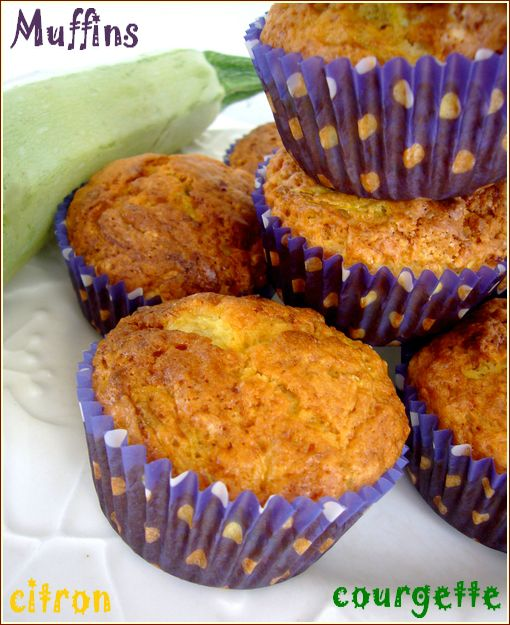 muffins courgettes citron