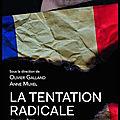 La tentation radicale - enquête auprès des lycéens - olivier galland et anne muxel - editions puf