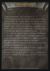 Carte - garde pretorien(verso)