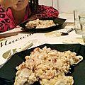#cookeo : risotto de duo de cabillaud et de saumon, au lait de coco