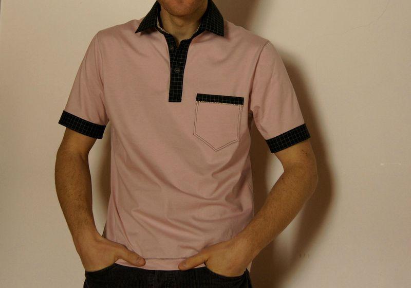 polo pink & black 08