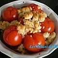 Crumble de tomates cerises au parmesan