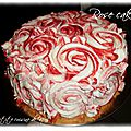 Rose cake fraise chantilly-mascarpone