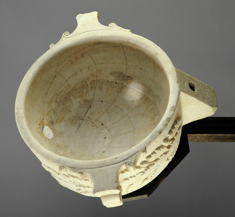 Roofed Spherical Sundial with Greek Inscriptions