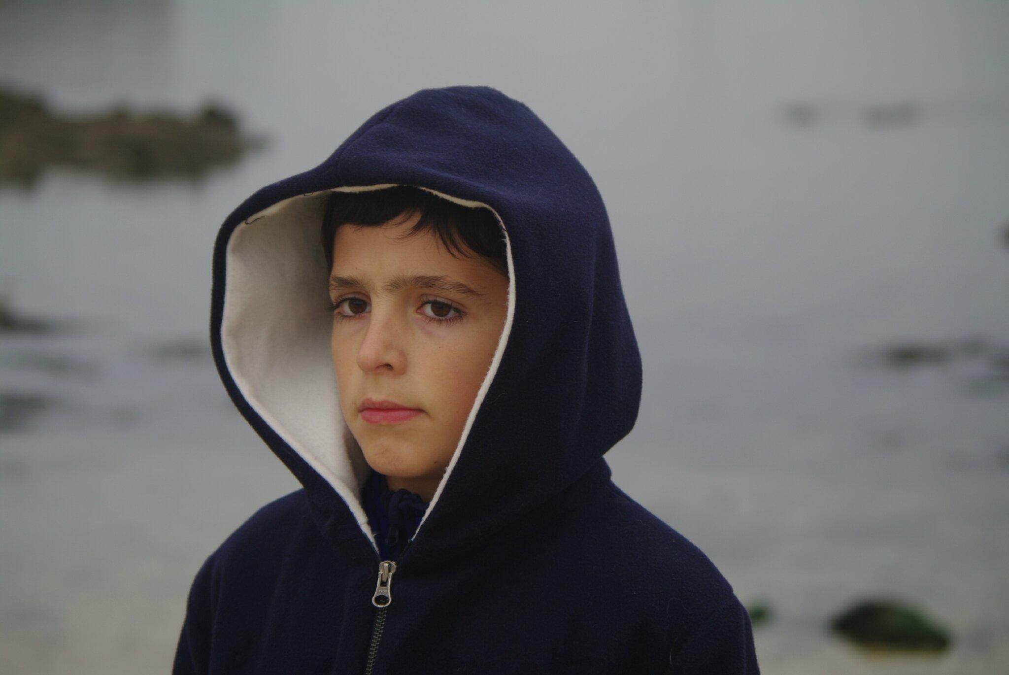veste garçon à capuche