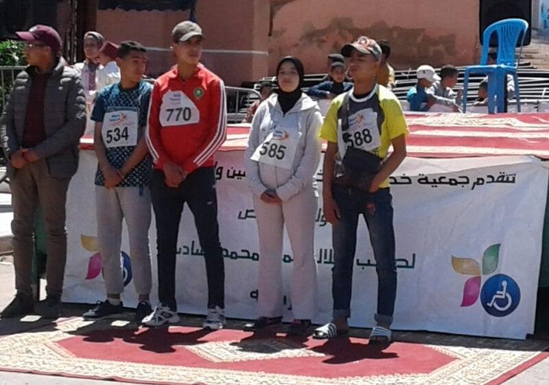 le podium avec Farah et les gars