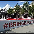 Bring back our girls - place de la république - valérie trierweiler