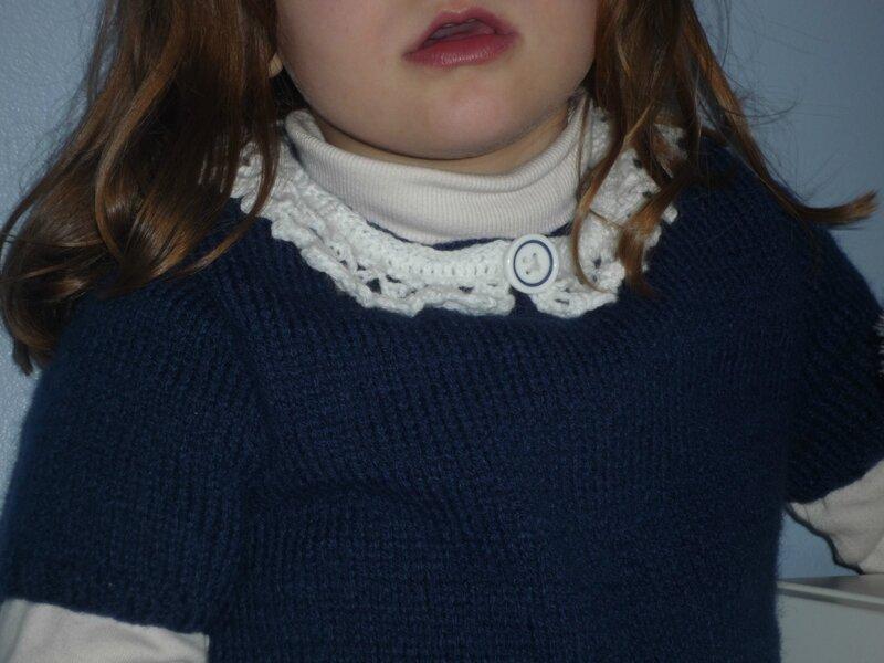 robe col crochet de céleste