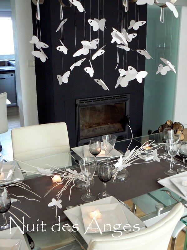 Nuit des anges décoratrice de mariage décoration de table papillons 012