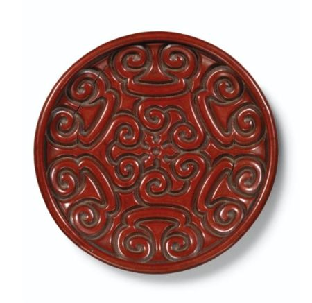 AN_EXTREMELY_RARE_AND_IMPORTANT_CINNABAR_LACQUER__GURI__DISH_