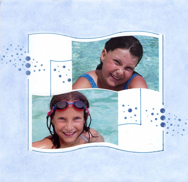 Elise et Florine à la piscine x