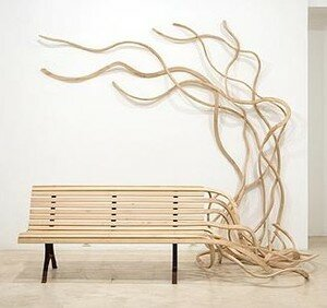 Untitled__Spaghetti_bench____2006_wood_and_iron_238x266x173_CM